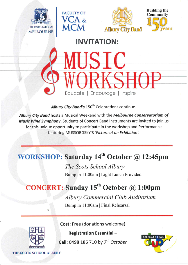 Music Workshop with Melbourne Conservatorium of Music - Wind Symphony